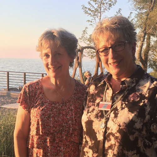 Pat Maier and Connie Denniger